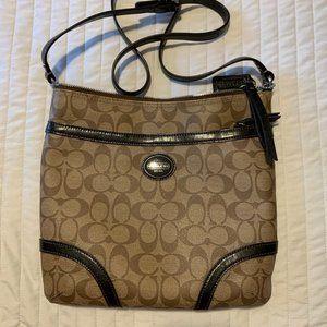 Coach Brown Medium Leather Crossbody Bag